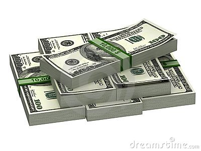 A stack of banknotes