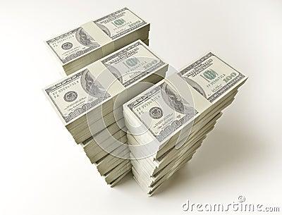 Stack of $100 bills