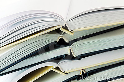 Stack of books closeup