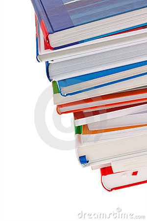 Stack of books. Isolated