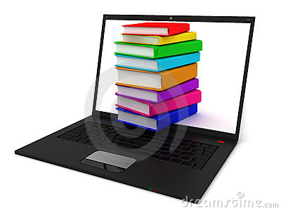 Stack of books in notebook