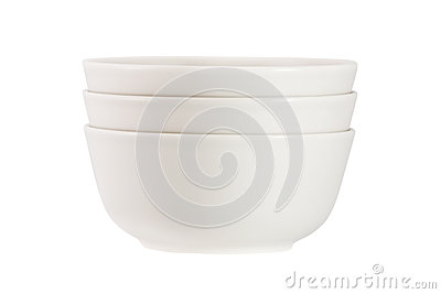 Stack of  bowls isolated