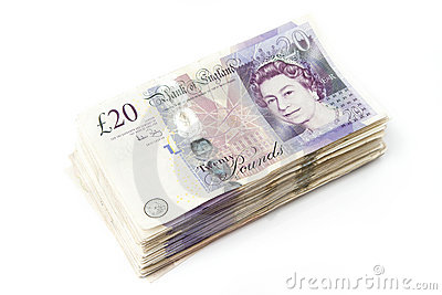 Stack of British Pounds Editorial Image