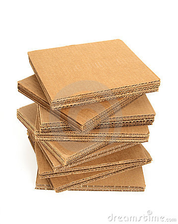 Stack Of Cardboard Royalty Free Stock Image - Image: 7861846