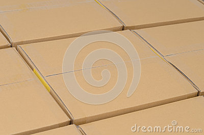 Stack of carton boxes package