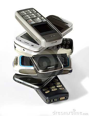 Stack of cell phones