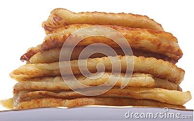 Stack of cheesy pancake