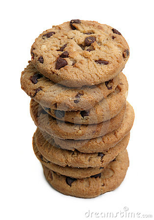 Stack Of Chocolate Chip Cookies Stock Photo - Image: 4274630