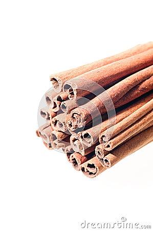 A stack of cinnamon sticks