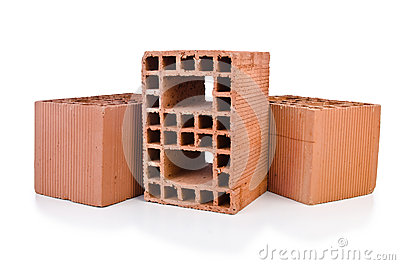 Stack of clay bricks