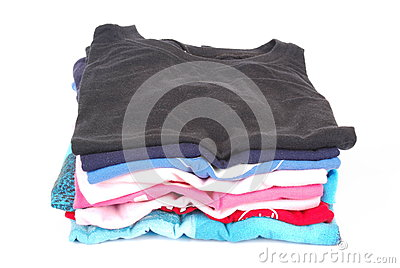 Pile of pressed clothes