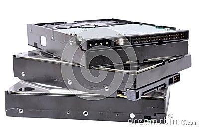 Stack of Computer Hard Drives