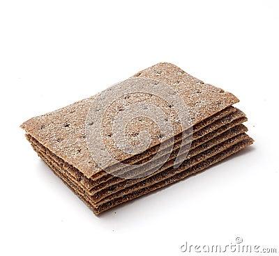 Stack of crispbread