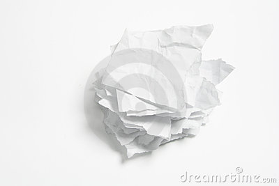 Stack of Crumpled Papers