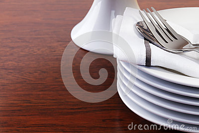 Stack of Dessert Plates