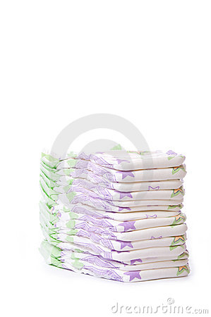 A stack of diapers