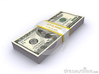 Stack of dollar bills