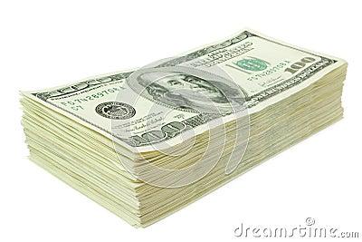 Stack of Dollar Bills, Paper Money