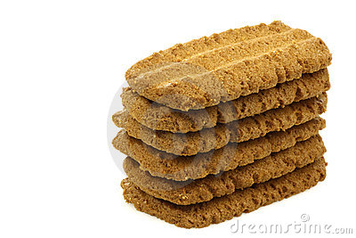 Stack of Dutch cookies called Bastogne koek