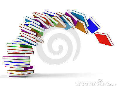 Stack Of Falling Books