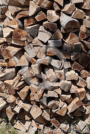 Stack of firing wood