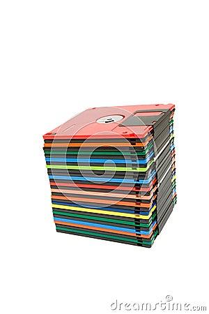 Stack of floppy disk