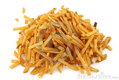 Stack of French fries