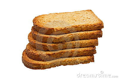 Stack of fresh toasts