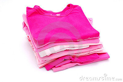 Stack of girls clothes