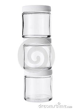 Stack of Glass Jars