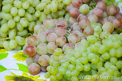 Stack of grape in the xinjiang market
