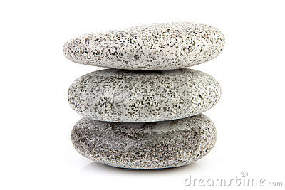 Stack of grey stones