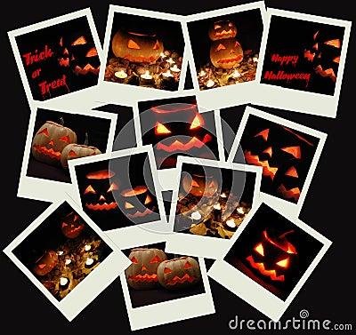 Stack of Halloween photo shots