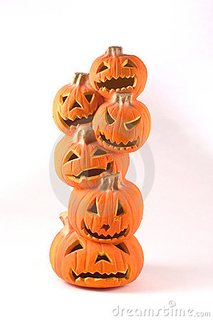 Stack of Jack-o-lanterns