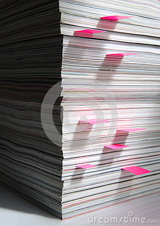 Stack Of Magazines With Markers Stock Image - Image: 24909031