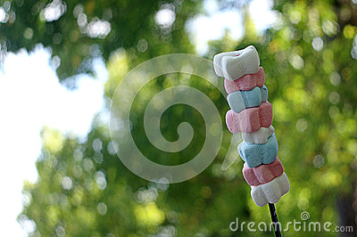 Stack of Marshmallows on Stick