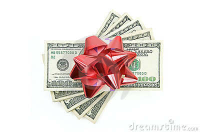 Stack of Money with Bow