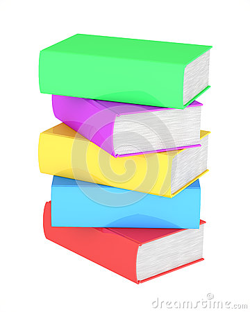 Stack of multicolored books
