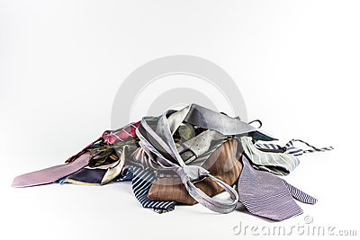 Stack of neckties