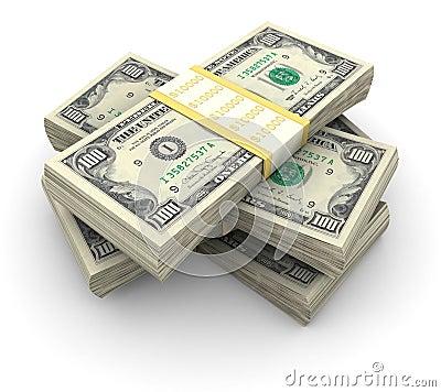 Free Stack Of $100 Bills Stock Photo - 4655200