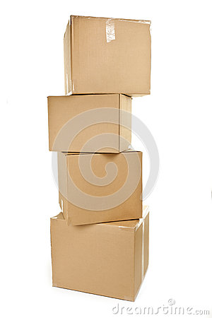 Free Stack Of Big Cardboard Boxes Stock Photography - 27689152