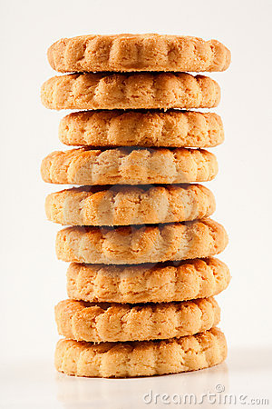 Free Stack Of Biscuits Royalty Free Stock Images - 12687469