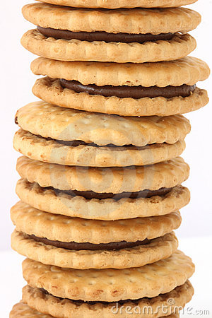 Free Stack Of Biscuits With Chocolate Filling Stock Photo - 12352550