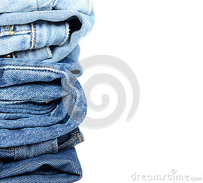 Free Stack Of Blue Jeans Royalty Free Stock Photos - 29155618