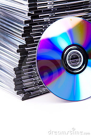 Free Stack Of CD-boxes With CD Stock Images - 3044434