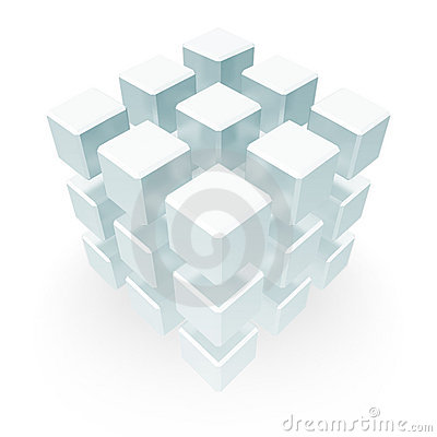Free Stack Of Cubes Floating Stock Images - 5384744