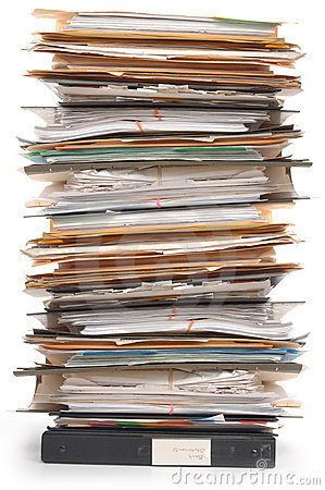 Free Stack Of Documents Stock Photography - 2997752