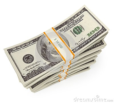 Free Stack Of Dollars Royalty Free Stock Photography - 36279137