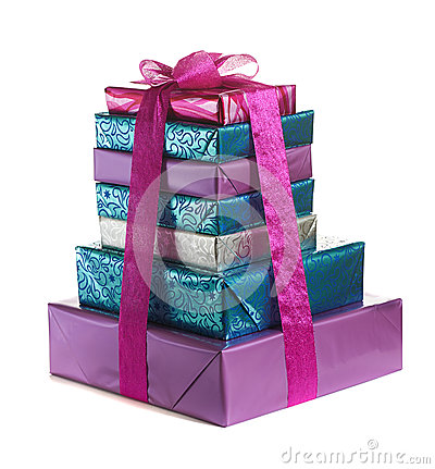 Free Stack Of Gift Boxes Stock Photography - 37599372