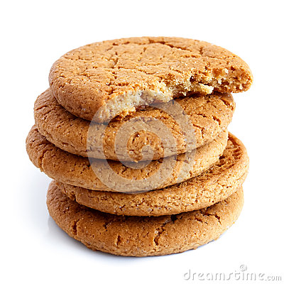 Free Stack Of Ginger Biscuits. Stock Images - 64665394